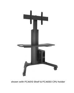 Large Fusion™ Manual Height Adjustable Mobile AV Cart